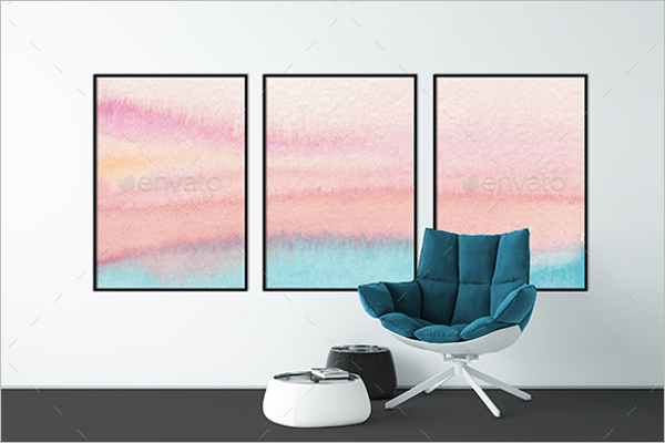 Photorealistic Wall Mockup Design