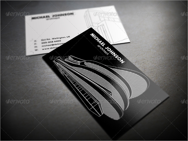 Printable Architect Business Card  Design