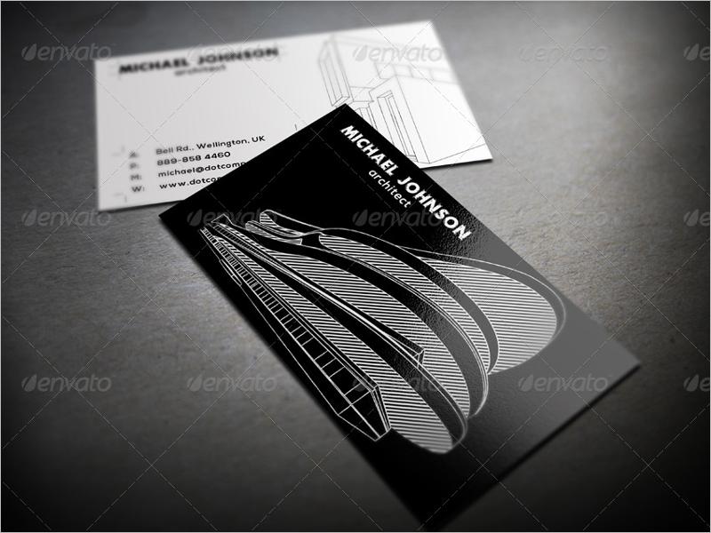 Printable Architect Business Card Design