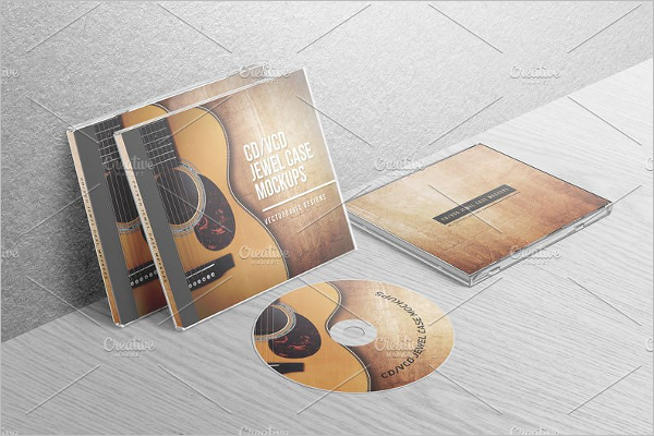 Realistic Jewel Case Template