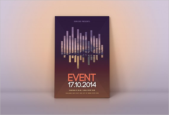 Realistic Music Flyer Template