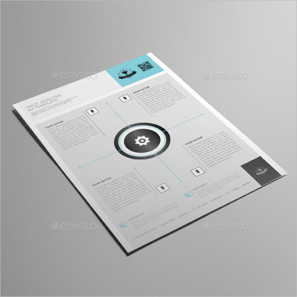 SWOT Analysis A4 Letter Template