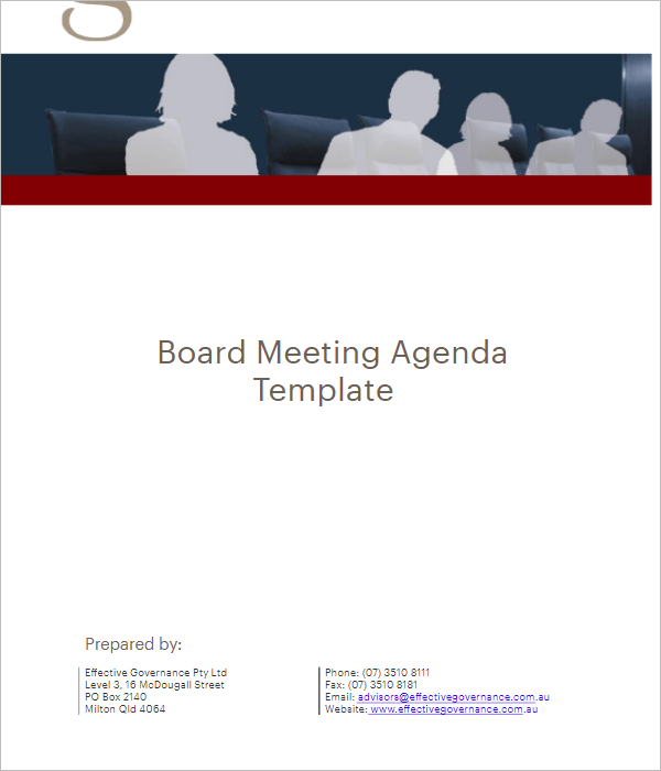 Sample Meeting Agenda Template Excel