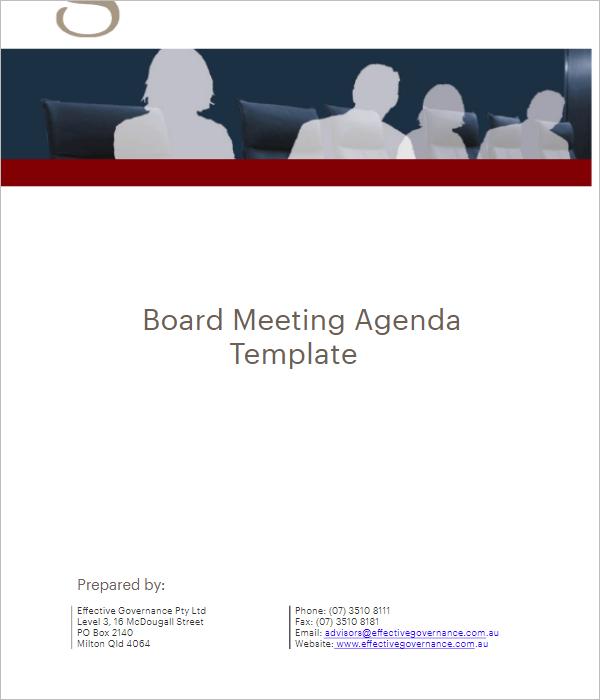 Sample Meeting Agenda Template Excel