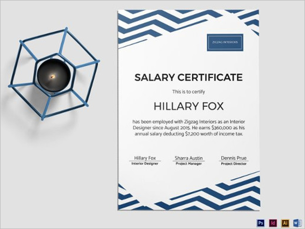 Simple Salary Certificate Template