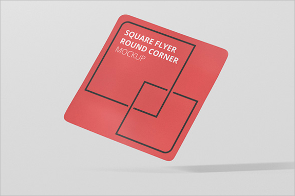Square Flyer Mockup Template