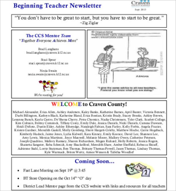Teacher Interview Newsletter Template