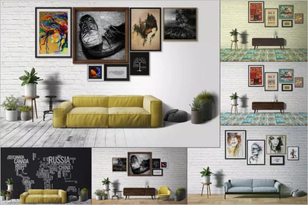 Wall Display Mockup