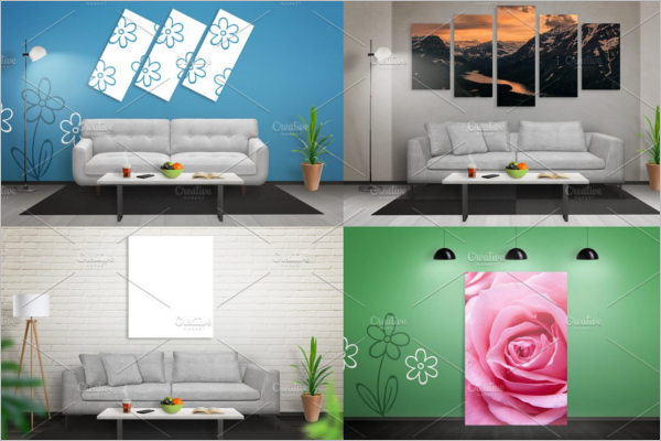 Wall Mockup Design Template