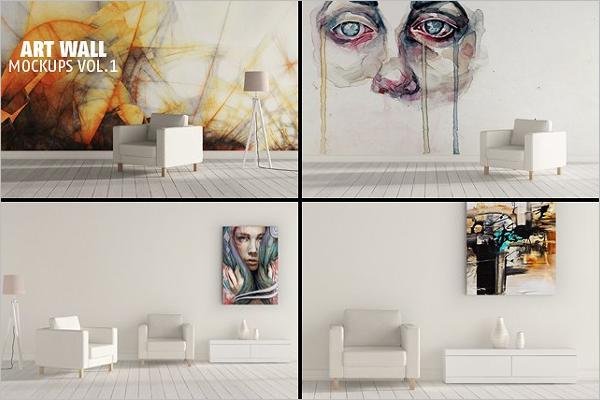 Wall Mockup PSD Design