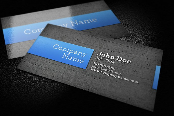 Wood Background Business Card Template