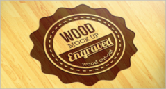 Wood Logo Mockups PSD