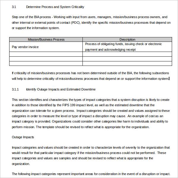 19 business impact analysis templates free word pdf ppt for It business impact analysis template