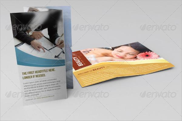 Z-Fold Flyer Mockup Design