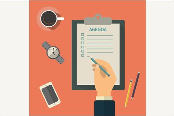 2018 Agenda Planner List Template