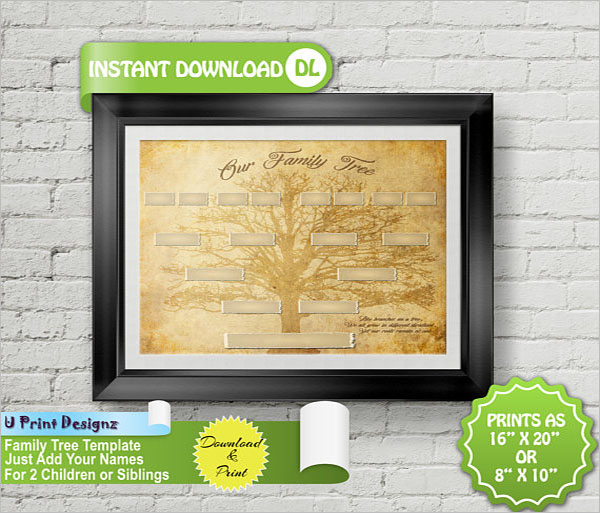 4 Generation Family Tree Template Download