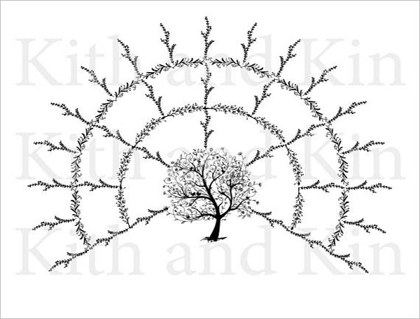 4 generation family tree template word