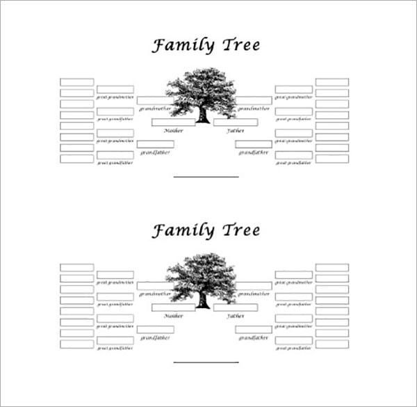 5 Generation Family Tree Word