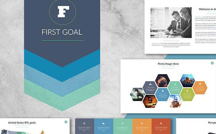First Goal PowerPoint Template