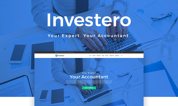 Investero - Accountant Expert Responsive WordPress Theme
