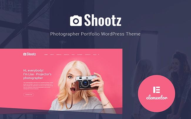 Shootz - Photographer Portfolio WordPress Theme