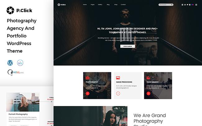 PClick Photography WordPress Theme