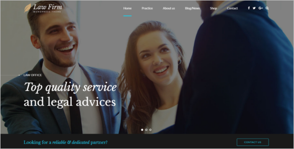 Advocate Website Template