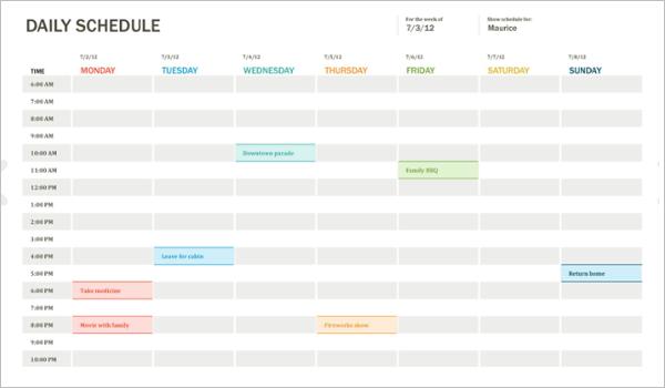 Agenda Planner Template Excel