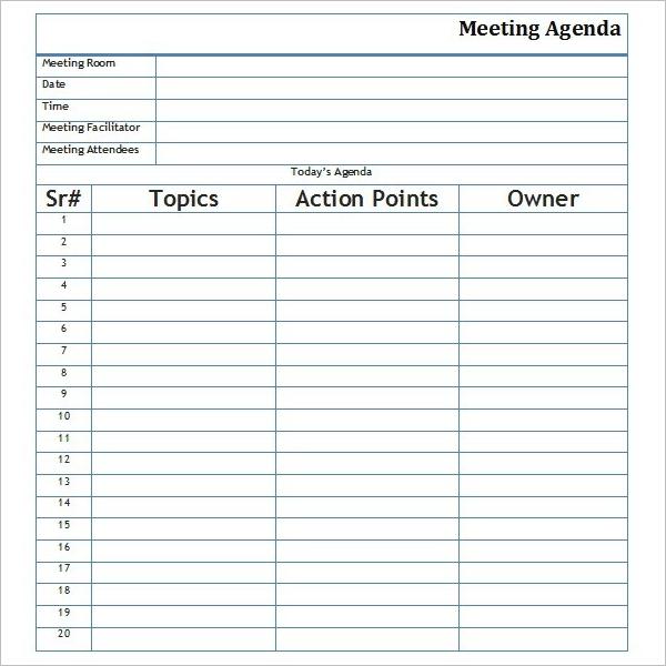 Agenda Template In Word