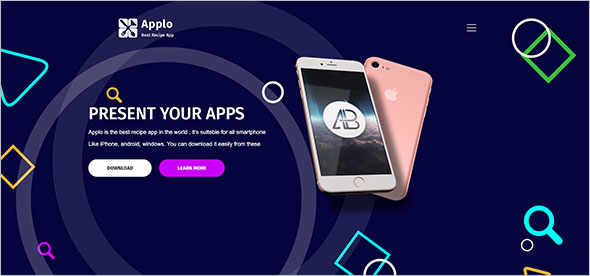 Android App Landing page Template