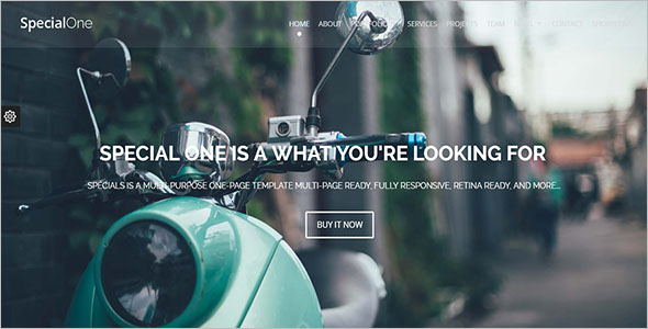 Animated Landing Page Drupal Template