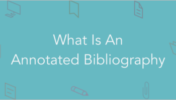 Annotated Bibliography Templat