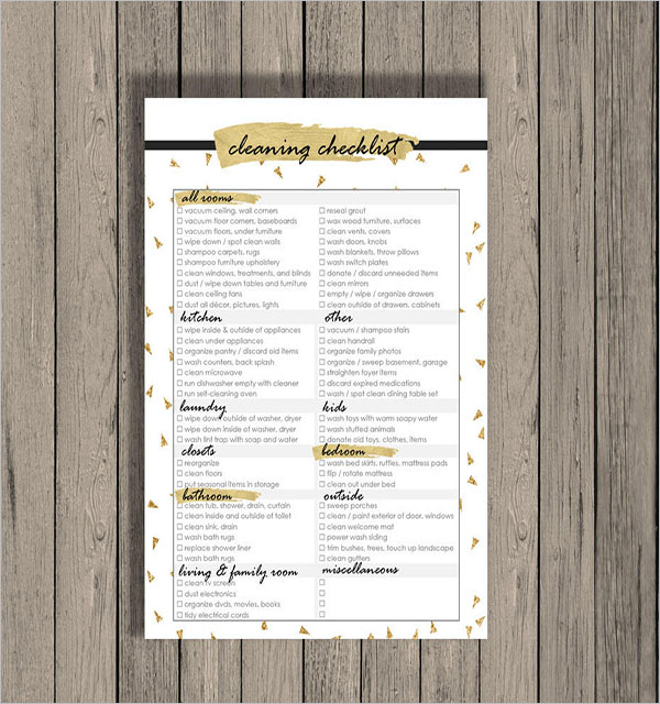 Annual Cleaning Checklist Template