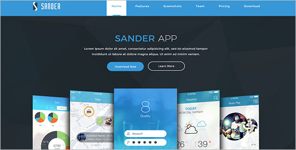 App Coming Soon Landing Page Template
