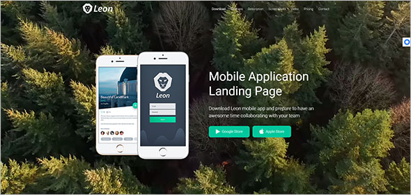 App Landing Page Animated Template