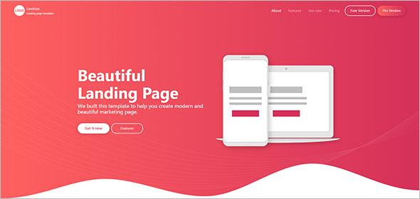 App Landing Page Template PSD