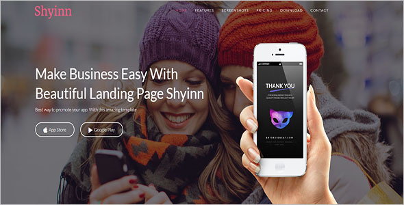 App Landing Page Theme WordPress