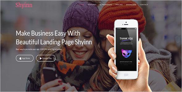 App Landing Page Theme WordPress