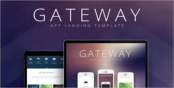 App Website Landing Page Template