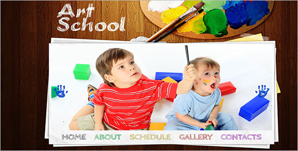 Art School Website Template