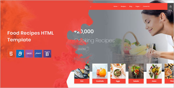 Attractive Food HTML Template