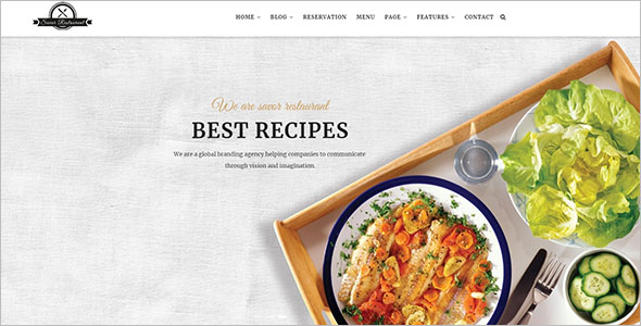 Attractive Food Recipes Drupal Template