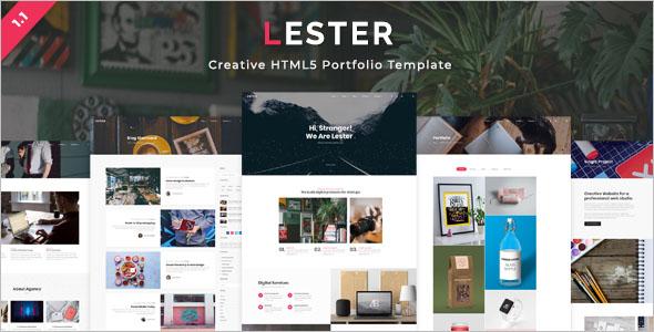 Attractive HTML Portfolio Template
