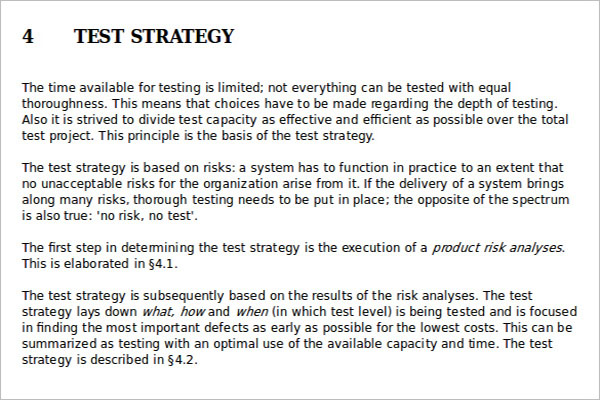 test automation strategy document template - 18 test strategy templates ppt pdf word excel formats
