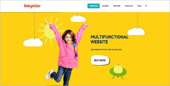 Baby Kids Website Template