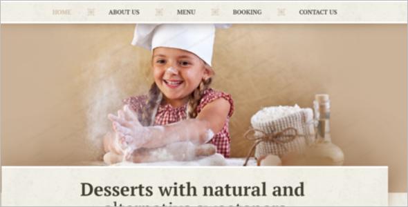 Bakery & Food Order Website Template