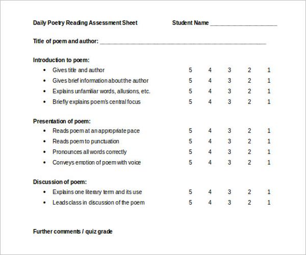 Balance Grade Sheet Template