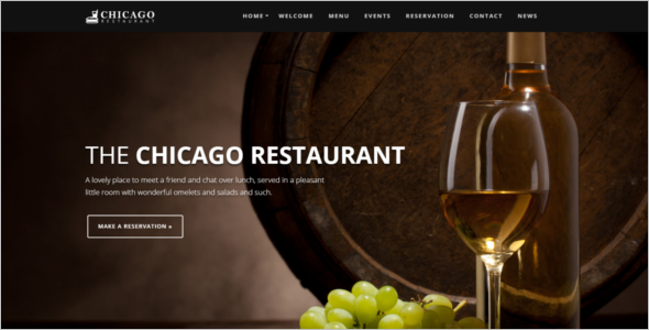 Bar & Cafe Website Theme