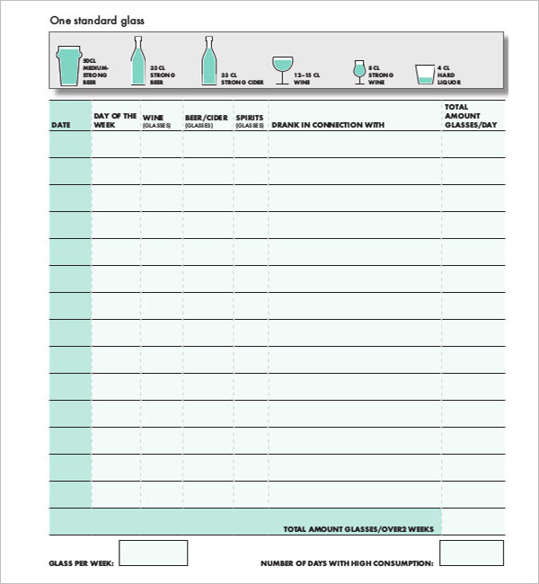 Bar Inventory Spread Sheet Template