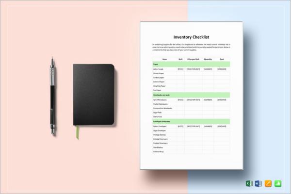 Basic Inventory Checklist Template